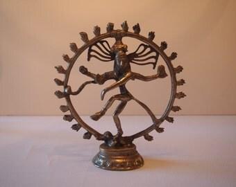 Antique Tibetan Handmade Brass Dancing Shiva