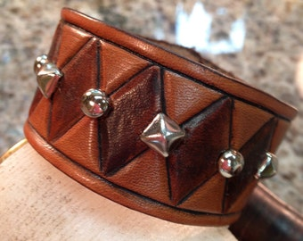 Leather Cuff with Spots