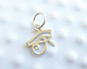 Sterling Silver Eye of Horus Charm -- 1 Piece... Sterling Silver Pendant