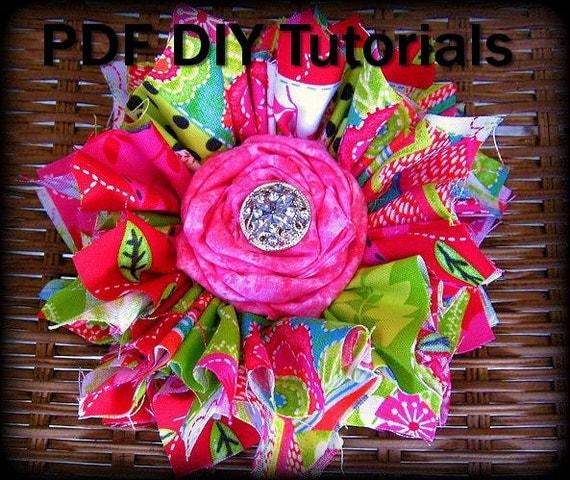 Flower Headband Tutorial: Items Similar To Flower Headband Tutorial / Shabby Chic
