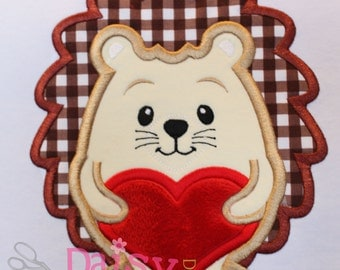 Hedgehog Heart Applique