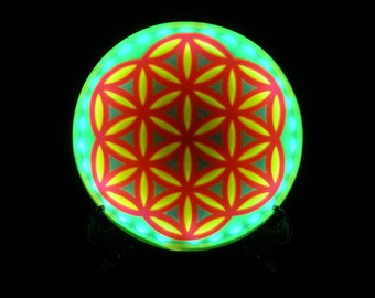 Flower of Life Night Light with Photo Reactive Color