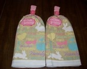 Double Thick Hanging Easter Towels Set of 2