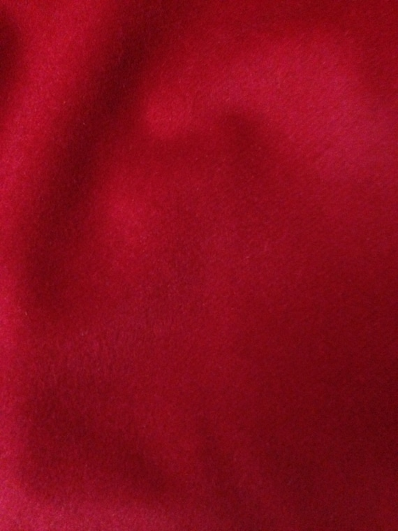 Magnificent Ruby Red Camel Hair Wool by ChocolateInkFabrics