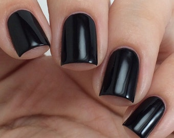 Black Nail Polish - Vegan Nail Polish - Luxury Nail Polish - Artisan Nail Polish - Nail Lacquer - Nail Art Designs - Cruelty Free - 3 Free