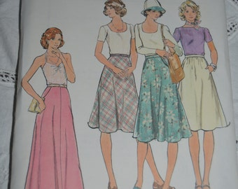 70s Butterick 4066  Misses Skirt Sewing Pattern - UNCUT  Size 24  or  Size 28