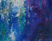 """October 1 - Original Abstract Painting 4.5""""x7.5"""" with 8""""x10"""" inch mat by Jagoda Lane"""