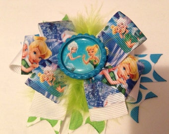 Inspired Tink and Periwinkle hair bow
