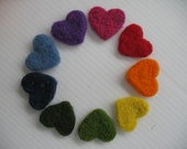 Heart Needle Felting Kit Garland Bunting Ornament Cookie Cutter Valentine Wedding Decoration xmas Beginner Instructions