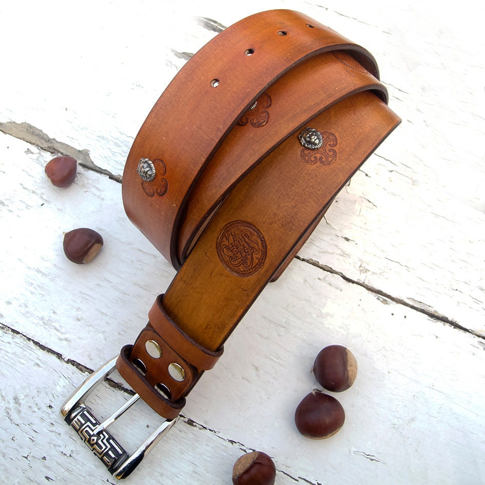 s leather belt saddle antiqued sted with by jullyet