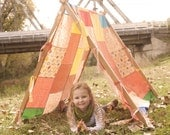 Tent Kids Photo Prop Tent Frame and Patchwork Cover Photography Props Outdoor Photography Prop Outdoor Photo Prop A Tent Frame Kids Tent