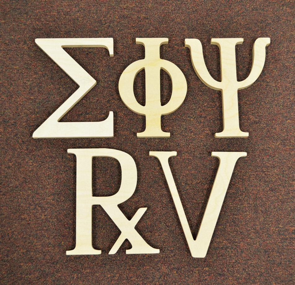 8 inch greek wooden letters unfinished alpha omega delta With 8 inch unfinished wooden letters