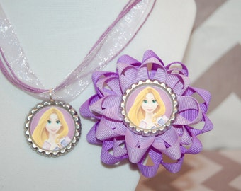 Tangled Bow and Necklace Set