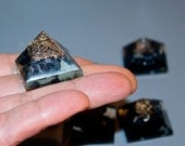Orgone Black Tourmaline Pyramid Minis  Strong Protection Power