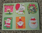 Vintage Christmas Stickers/Seals 13 Full Sheet 78 Stickers