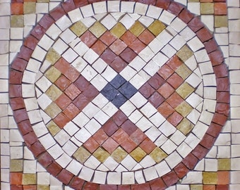 kit mosaic geometric circle 25x25 cm