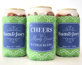 Neoprene Can Cozies - Personalized for Wedding Reception Favors