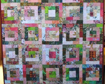 Pink and Green Lap Quilt