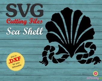 Seashell SVG, Seashell, Sea Shell SVG, Scallop, Scallop with Rope, Oyster