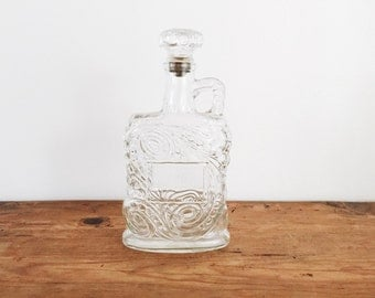 Beautiful glass flask or decanter