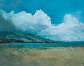 Art card print- Ideal Beach-   by Lauriann Wakefield  of Bear Lake