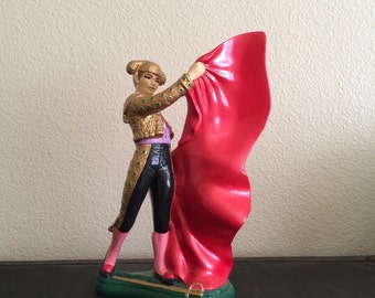 Midcentury matador figurine