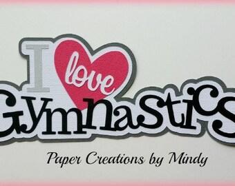 Elite4u Mindy Sports Gymnastics Title Premade paper piecing for scrapbook page embellishment