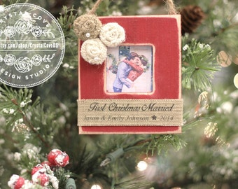 First Christmas MARRIED Wedding Newlywed Christmas Ornament Personalized GIFT