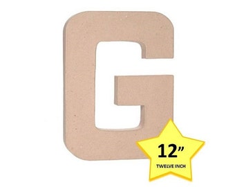 paper mache cardboard letters 12 inch letter g paper craft party decor supplies