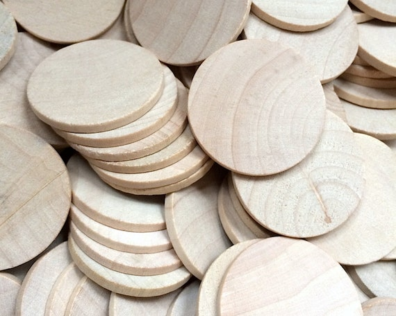25 round circle wood disc 1 5 inch woodworking wooden for Wood circles for crafts