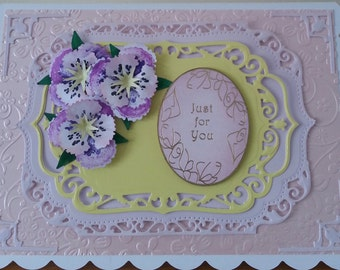 Handmade A5 Size Just for You Card