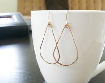 Gold Filled Teardrop Earrings//Handmade Jewelry//Women Earrings//Summer Jewelry