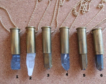 Gold bullet crystal necklaces, bullet necklace, bullet crystal necklace