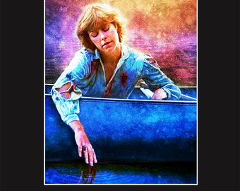 Adrienne King 11X14 Matted Print - Signed by Artist Joel Robinson