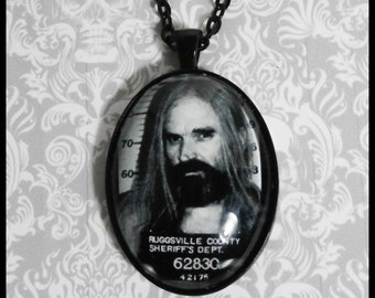 Otis Driftwood Necklace Black Oval Setting 30x40 Devil's Rejects