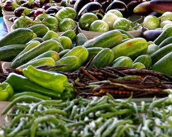 Food photo, fine art food photography, wall decor, farmer's market photography, green photo