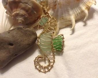 SeaGlass Seahorse Necklace