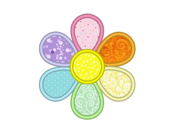 Flower Petals Applique Embroidery Machine Design
