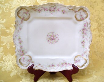 JUST REDUCED! Theodore Haviland Rare Antique Rectangular Serving Cookie Plate  Limoges France circa 1900