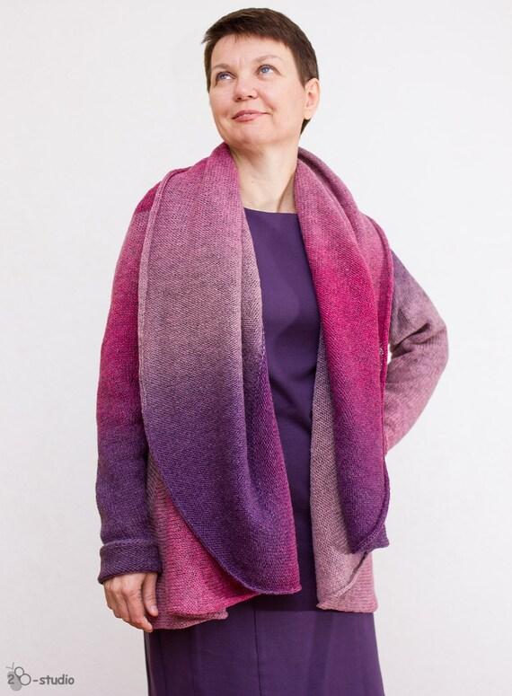 Knitting Patterns Plus Size : Knitting pattern women cardigan oversize