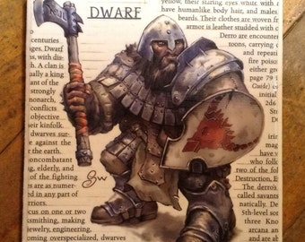 Up-cycled Dwarf coaster from Dungeons and Dragons Monster Manual
