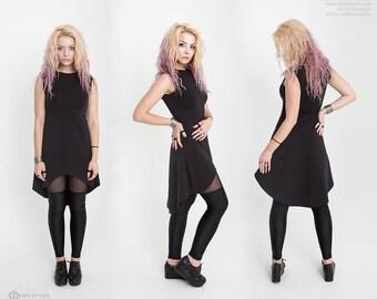 Dress with asymmetric bottom, Платье с ассиметричным низом