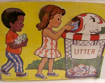 Vintage Helping Keep Our Country Clean Poster