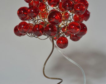 Table Lamp with red bubbles - Lighting  for Living Room red bubbles
