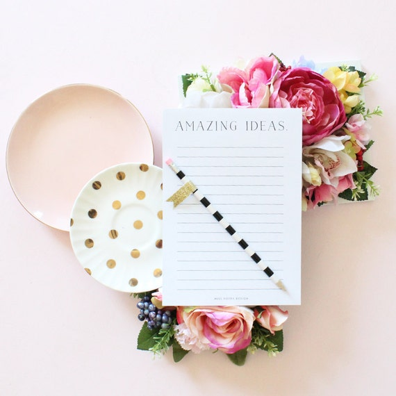 Amazing Ideas Lined Notepad