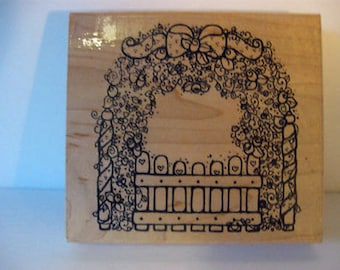 Mounted Rubber Stamp Rose Garden 4 1/2 X 4 1/8 Inches Unused CL7-23