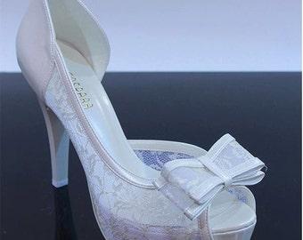 Wedding shoes, Bridal shoes, Brides shoes Handmade lace wedding shoes #8616Y