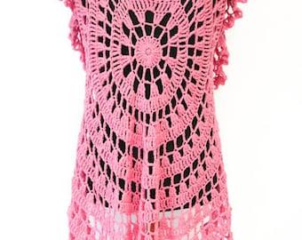 Crochet Circular Vest (L/XL)