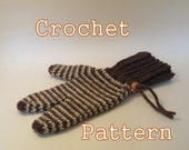 PDF Crochet Pattern - Lobster Cycling Mitts Mittens Mens and Womens - Instant Download