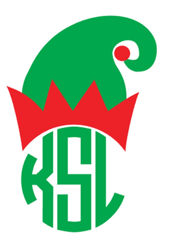 Diy monogram christmas elf hat iron on personalized